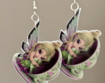 Fairy in a Tea Cup Earrings