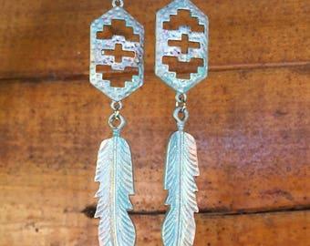 Spring Boho/Western Hand Painted Earrings