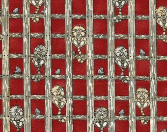 Checkered Past Cat Fabric – by the Half Yard