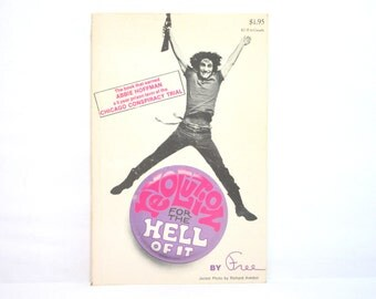 Revolution for the Hell of It 1970 Vintage Book By Free > Abbie Hoffman < Cover Photo by Richard Avedon