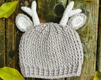 Deer Antler Hat crochet baby & toddler beanie