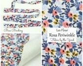 Rifle Paper Co Les Fleur Rosa Periwinkle // Rifle Paper Company Binding // Bias Tape // Fabric Felt // Felt Backed Fabric // Cotton Fabric