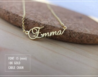 Custom Name Necklace-Personalized Name Necklace-Custom Name Gift-Your Name Necklace-Bridesmaids-Children Names-Tiny name necklace. #MNF15