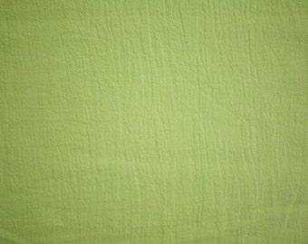 "Lime Green Cotton Gauze Fabric 52"" Wide Per Yard"