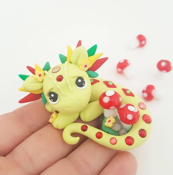 "OOAK ""Nolana"" Baby Dragon, Polymer Clay Dragon Figurine, Collectable, Miniature, Polymer Clay, Dragon, Fantasy"