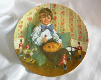 Little Jack Horner Collectors Plate by RECO   Mother Goose Series by Jack McClellan   Vintage 1982