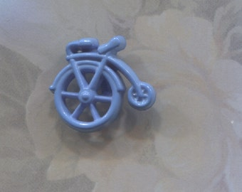 Vintage Small Blue Bicycle Realistic Button-( 5/8 inch)-Item#253