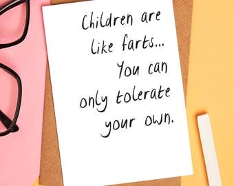 Mothers day card - Funny child card - Funny mothers day card - greetings card - mothers day - funny greetings card - blank card - funny card