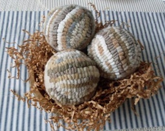 Vintage Hooked Rug Carpet Ball Bowl fillers Beaconhillcollect We Ship Internationally