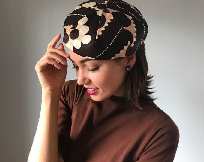 Vintage 1960s Mod Hat Silk Berét
