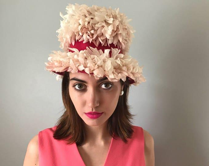 Vintage Floral Topper Hat