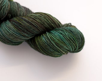 Hand Dyed Yarn - 4ply/Fingering, Superwash Merino - Forest