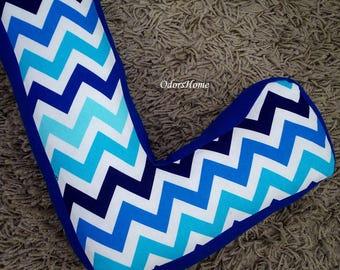 """Decorative photo prop - L shape letter pillow - monogram pillow - 30 cm * 20 cm / 11.8"""" x 8"""" - baby nursery decor"""