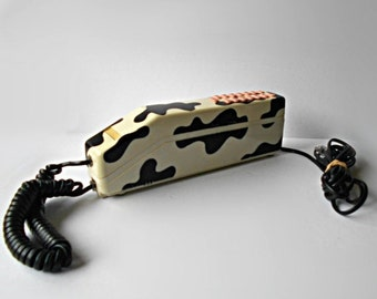 Vintage Holstein Cow pattern spotted telephone