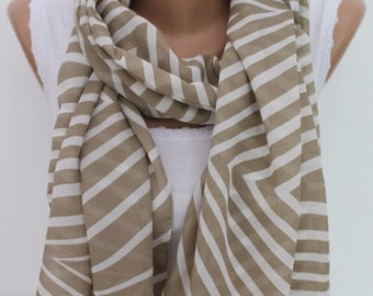 Christmas Gift Holiday Gift Gift Ideas For Her Khaki Aztec Scarf Chiffon Scarf