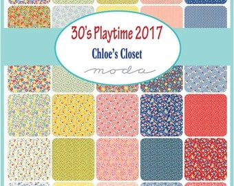 New - 30's Playtime Charm Pack by Chloe's Closet for Moda