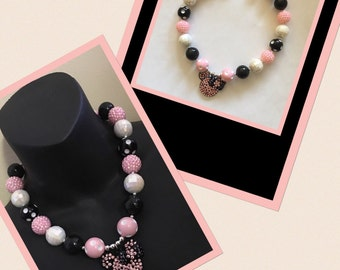 Minnie Mouse Bling Necklace