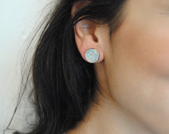 moonstone stone stud earrings