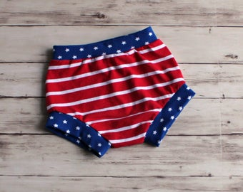 Patriotic Shorts, 4th of July Outfit, Baby Patriotic outfit, Stars and Stripes Bummies, Patriotic Bummies, Toddler Shorties, Baby Bloomers