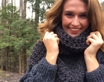 Cowl Katniss Scarf / infinity scarves / cowl neck / cowl shawl / poncho / knit wrap / winter knitwear/ gifts under 75
