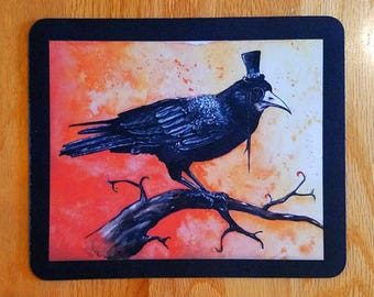 SALE! Mousepad - 23 Enigma, Watercolour Blackbird Rook
