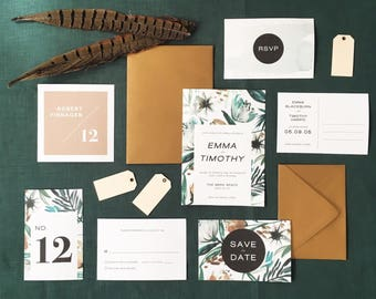PEMBROKE Wedding Invitation Suite SAMPLE