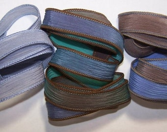 3 Pack Special Sale/Silk Ribbons/Hand Dyed/Wrist Wraps/Sassy Silks/Ready to Ship/ See Description for Details/101-0422