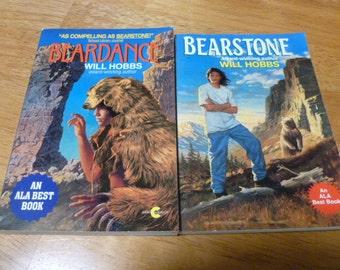 Will Hobbs Dearstone & Beardance Lot of 2 Books 1991 1995 PB
