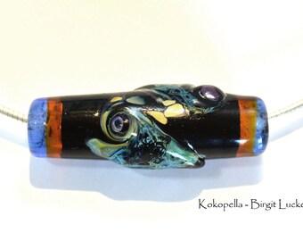 Necklace, focal bead, glass bead, artist, gifts for women, Dragon skin, kind of Kokopella - Birgit Lucke