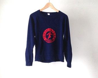 1984 vintage olympics Navy Blue and Red LOS ANGELES raglan vintage sweatshirt USA