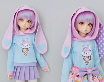 Slim MSD Minifee or SD Hoodie Sweater - Bunny Ice Cream