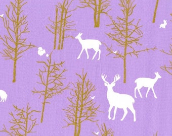 Brambleberry Ridge by Violet Craft for Michael Miller - Timber Valley & Flight - Lilac Sold by  Half Yard
