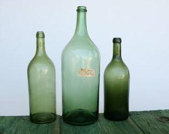 Oversize Italian wine bottles