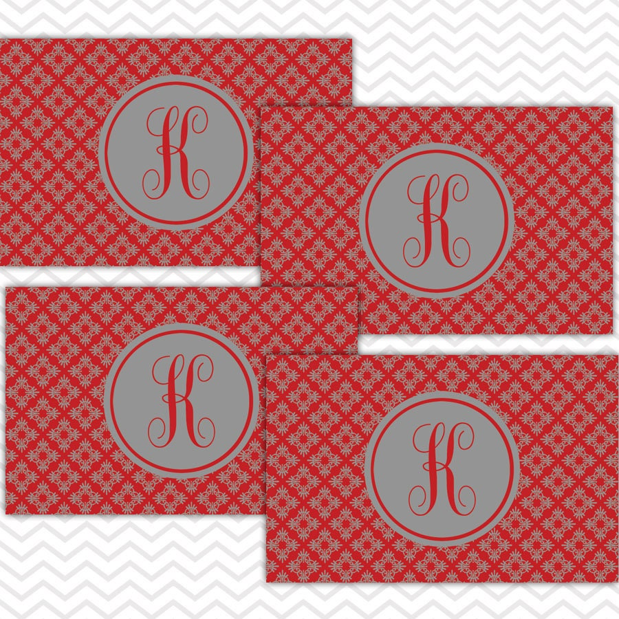 Placemat set of 4 personalized placemats monogrammed for Table mats design your own