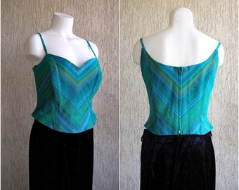 Vintage EXCELLENT Formal Boning Bustier, size L-XL / 40-42 /