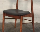 Mid-Century Danish Modern Desk / Dining Chair - Wide Seat ~ Mad Men / Eames Era Decor *SHIPPING NOT INCLUDED*