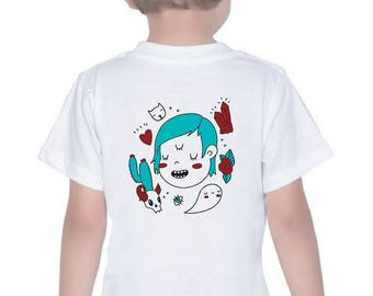 Three Eyed Baby or Toddler / Children's t-shirt or onesie, unisex heavy duty cotton 2T - Youth Medium. Cool kid, weirdo.