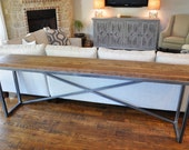 For DEVON: Console Table - Custom Reclaimed Wood Console, Sofa or Entry Table