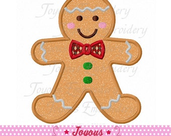 Instant Download Christmas Gingerbread Applique Machine Embroidery Design NO:2242