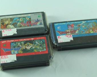 Dragon Quest II III IV - Nintendo Famicom Nes Japan Import Pack Set Original