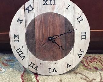 """12"""" custom wood clock"""