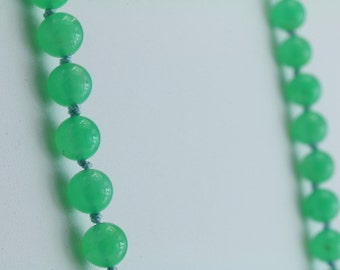 "Chrysoprase 6mm Beads 14kt Clasp 20"" 85-10415"