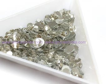 500pcs Assorted Size Flat Back Crystal Clear Rhinestones in Supreme Quality
