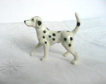 Vintage dalmation figurine - vintage dog ornament - porcelain dog figurine - vintage dog figurine - porcelain dalmation figurine