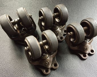 Very Nice Set of Industrial Casters