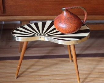 Mid Century Modern  Kidney Table  Plant stand  Atomic Rockabilly Eames Coffee Table