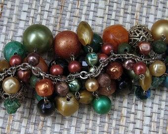 Chunky Vintage Beaded Bracelet