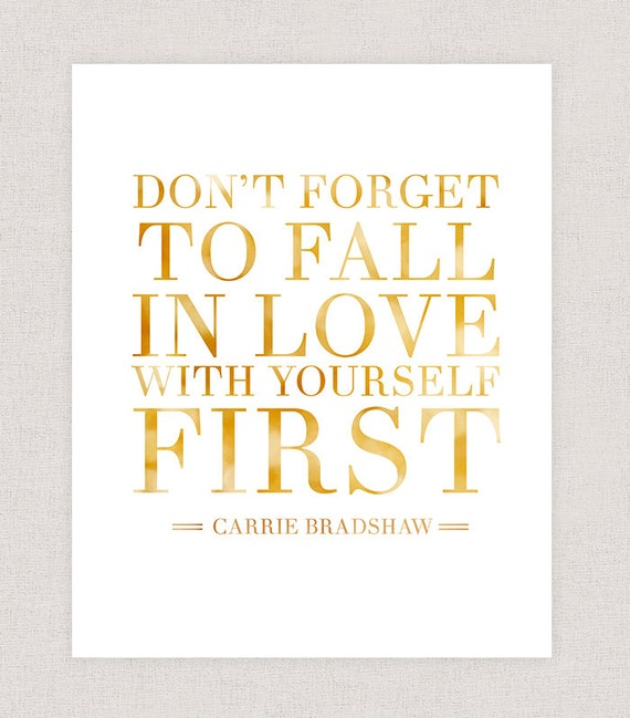 City Of Ember Quotes And Page Number: Carrie Bradshaw Quote Sex And The City Quote Poster Print