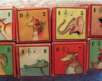 Tony Sarg's Vintage 1942 Play-a-Tune Blox