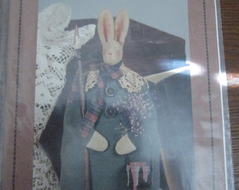 "Paint Day 10"" Stuffed Bunny Doll Pattern"